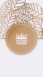 Шаблон обложки для истори в Инстаграм, золото